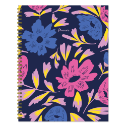 """TF Publishing Undated Weekly/Monthly Planner, 8-1/2"""" x 11"""", Bright Blooms"""