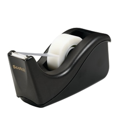 Scotch® Desktop 2-Tone Tape Dispensers, Black
