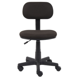 Boss Steno Fabric/Plastic Low-Back Task Chair, Black