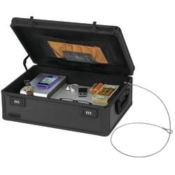 """Vaultz® Locking Storage Chest, 5 5/8""""H x 18""""W x 13""""D, Black"""