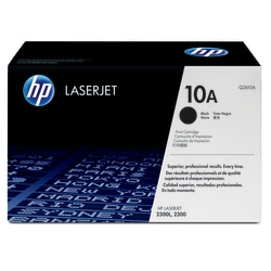 HP 10A, Black Original Toner Cartridge (Q2610A)