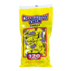 Charleston Chew Snack-Size Candies, Vanilla, Pack Of 120