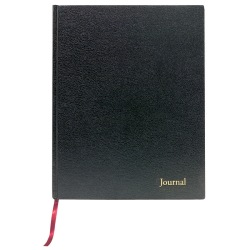 """TOPS™ Professional Business Journal With Planning Pages, 8 1/2"""" x 11"""", Legal Ruled, 80 Sheets, Black"""