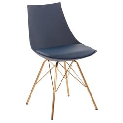Office Star™ Avenue Six Oakley Chair, Navy/Gold Chrome