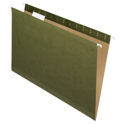 Pendaflex® Premium Reinforced Hanging Folders, 1/5 Cut, Legal Size, Standard Green, Pack Of 25