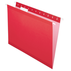 Pendaflex® Premium Reinforced Color Hanging File Folders, Letter Size, Red, Pack Of 25 Folders