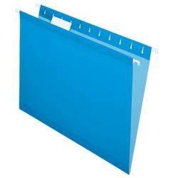 Pendaflex® Premium Reinforced Color Hanging File Folders, Letter Size, Blue, Pack Of 25 Folders
