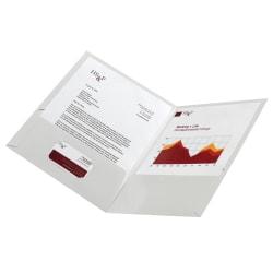 Office Depot® Brand Laminated Paper 2-Pocket Folders, White, Pack Of 10