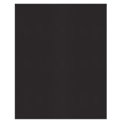 Office Depot® Brand 2-Pocket Textured Paper Folders With Prongs, Black, Pack Of 10