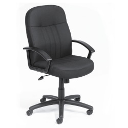 Boss Mid-Back Fabric Chair, Black