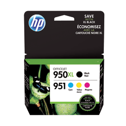 HP 950XL/951 Black/Cyan/Magenta/Yellow Ink Cartridges (C2P01FNM), Pack Of 4 Cartridges