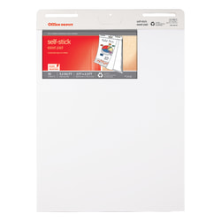 """Office Depot® Brand 30% Recycled Restickable Easel Pad, 25"""" x 30"""", 30 Sheets, White"""