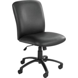 Safco® Uber Big & Tall 24-Hour Mid-Back Chair, Black Frame, Black Vinyl
