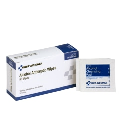 First Aid Only First Aid Alcohol Pads, Box of 50