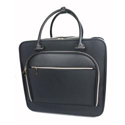 "TJ Riley Rolling Briefcase With 15"" Laptop Pocket, 9""H x 18""W x 16-1/2""D, Black"