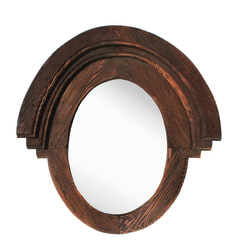 "PTM Images Framed Mirror, Western, 22 3/4""H x 21 1/2""W, Natural Wood"