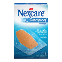 """3M™ Nexcare™ Waterproof Bandages, 2 3/8"""" x 3 1/2"""", Pack Of 8"""