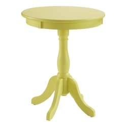 "Powell Joris Round Side Table, 22"" x 18"", Buttercup Yellow"