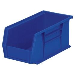 """Akro-Mils AkroBin, 10 7/8"""" x 5 1/2"""" x 5"""", Blue"""