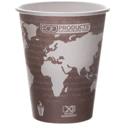 Eco-Products® World Art™, Hot Cups, 8 Oz, Pack Of 50