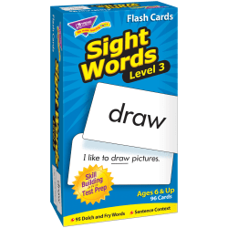 """TREND Sight Words Skill Drill Flash Cards, Level 3, 6"""" x 3"""", Grades 3-4, Pack Of 96"""