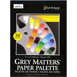 "Jack Richeson Gray Matters Paper Palette Pad, 12"" x 16"", 50 Sheets"