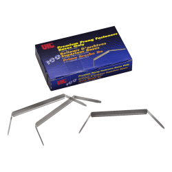 """Officemate Premium Prong Fastener, Base Only, 5 3/8"""", 2"""" Capacity, Silver, Box Of 100"""