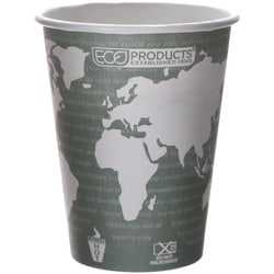Eco-Products® World Art™, Hot Cups, 12 Oz, Pack Of 50