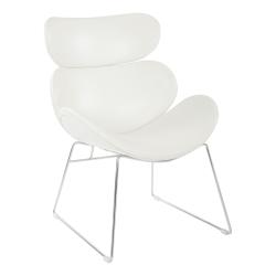 Office Star™ Avenue Six Jupiter Chair, White/Chrome