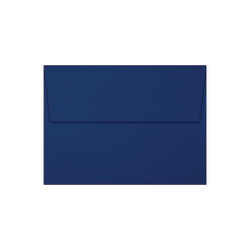 """LUX Invitation Envelopes With Peel & Press Closure, A7, 5 1/4"""" x 7 1/4"""", Navy/Silver, Pack Of 50"""