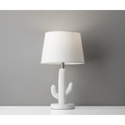 Adesso® Simplee Cactus Table Lamp, White