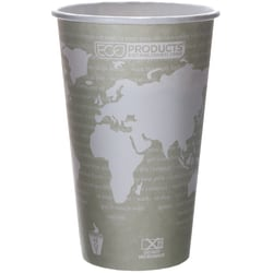 Eco-Products® World Art™, Hot Cups, 16 Oz, Pack Of 50