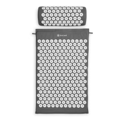 """Gaiam Acupressure Mat With Pillow, 30""""H x 16""""W x 1""""D, Gray"""