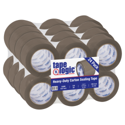 "Tape Logic® Acrylic Sealing Tape, 3"" Core, 3"" x 110 Yd., Tan, Pack Of 24"
