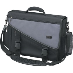 Tripp Lite Profile Brief Bag Notebook / Laptop Computer Carry Case Nylon - Top-loading - Nylon - Charcoal Gray, Black""