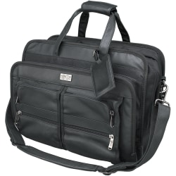 Tripp Lite Corporate Top-Load Brief Bag Notebook / Laptop Computer Carrying Case - Top-loading - Leather - Black