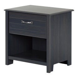 """South Shore Ulysses 1-Drawer Nightstand, 22-1/2""""H x 21-3/4""""W x 17-3/4""""D, Blueberry"""