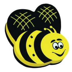 "Ashley Productions Magnetic Whiteboard Erasers, 3 3/4"", Bee, Pack Of 6"