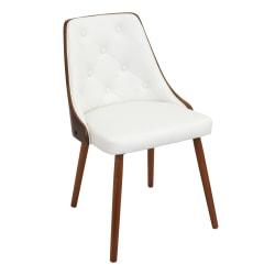 LumiSource Gianna Chair, White/Walnut