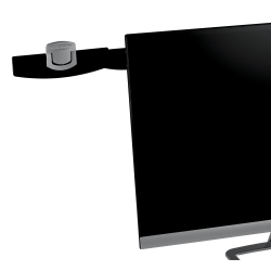 3M™ Monitor-Mount Dual Document Clip, Black