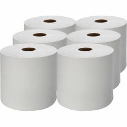 Genuine Joe Hardwound 1-Ply Paper Towels, 1000' Per Roll, Pack Of 6