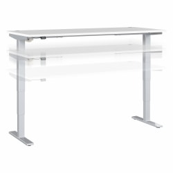 "Move 40 Series by Bush Business Furniture Height-Adjustable Standing Desk, 72"" x 30"", White/Cool Gray Metallic, Standard Delivery"