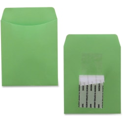 """Hygloss Self-adhesive Library Pockets - 5"""" Height x 3.5"""" Width x 7"""" Length - Rectangular - Assorted - Manila - 30 / Pack"""