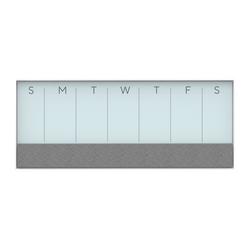 """U Brands Magentic Dry-Erase/Bulletin/Calendar Board, 15 1/4"""" x 36"""", White Aluminum Frame"""