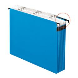 Pendaflex® Hanging Pocket Expandable File, A-Z, Letter Size, Blue