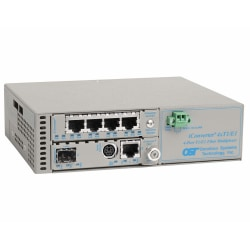 Omnitron Systems Managed iConverter 4xT1/E1 MUX/M - 4 Data Channels - Twisted Pair - 1 Gbit/s - 1 x RJ-45