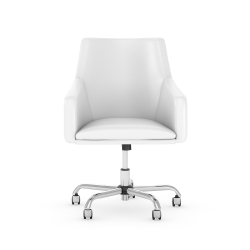 Bush Business Furniture London Mid-Back Box Chair, White, Standard Delivery