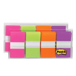 "Post-it® Flags, 1"" x 1 -11/16"", Assorted Colors, 20 Flags Per Pad, Pack Of 8 Pads"
