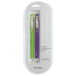 TUL® Mechanical Pencils, 0.7 mm, Lime & Purple Barrels, Pack Of 2 Pencils