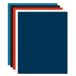 Office Depot® Brand 2-Pocket Textured Paper Folders, Assorted Colors, Pack Of 10